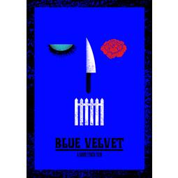 Blue velvet movie poster